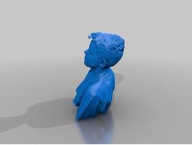 3D扫描的男孩胸像